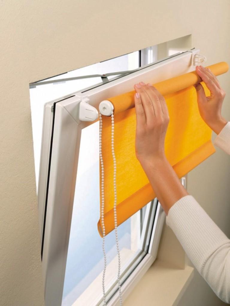Как сделать рулонные шторы на окно самому