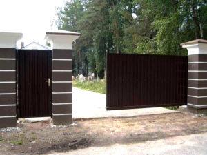 Откатные ворота в Борисполе